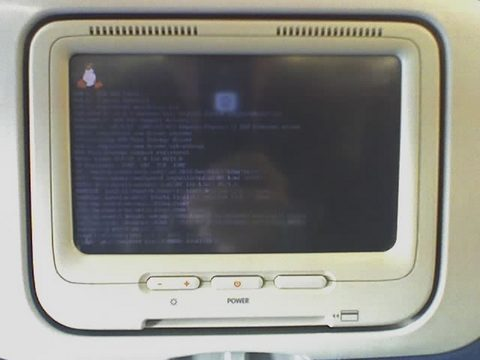 delta's in-flight linux boot screen