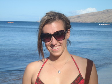 Kassidy on the beach in Maui.