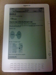 mark++ on the Kindle DX browser